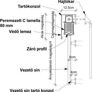 C lamella műszaki rajz