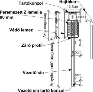 Z lamella műszaki rajz